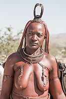 A Himba lady on her way to Opuwo from remote Kaokoland