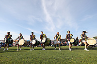 SAN JOSE, CA - JULY 06: Drumers during a Major League Soccer (MLS) match between the San Jose Earthquakes and Real Salt Lake on July 06, 2019 at Avaya Stadium in San Jose, California.