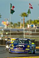 22-25 January, 2009, Daytona Beach, Florida USA.#66 TRG Porsche GT3 of Ted Ballou, Emmanuel Collard, Tim George,Jr., Richard Lietz & Spencer Pumpelly.©F.Peirce Williams 2009.F.Peirce Williams.photography