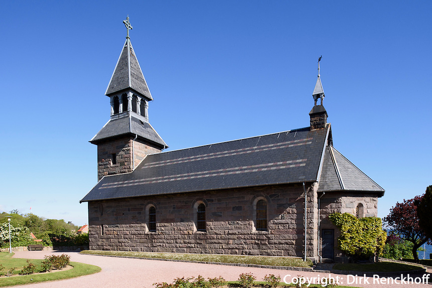 Kirche von 1893 in Gudhjem auf der Insel Bornholm, Dänemark, Europa<br /> Church from 1893 in Gudhjem, Isle of Bornholm Denmark