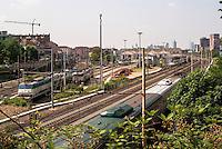 Milano, periferia nord. Scalo merci ferroviario Greco Breda --- Milan, north periphery. Freight railway yard Greco Breda
