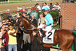 """July 04 2015:  Lady Eli with Irad Ortiz Jr. win the 37th running of the 1,000,000 Grade I Belmont Oaks for fillies & mares, a """"Win & You're In"""" , for 3-year olds & up, going 1 1/4 mile on the turf, at Belmont Park.  Trainer Chad Brown. Owner Sheep Pond Partners. Sue Kawczynski/ESW/CSM"""