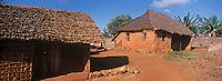 Afrique/Afrique de l'Est/Tanzanie/Zanzibar/Ile Unguja/Makunduchi: cases du village