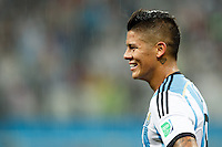 Marcos Rojo of Argentina in the rain