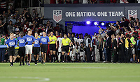 Orlando, FL - Friday Oct. 06, 2017: USMNT walk out during a 2018 FIFA World Cup Qualifier between the men's national teams of the United States (USA) and Panama (PAN) at Orlando City Stadium.