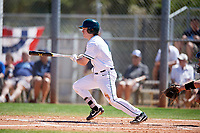 Dartmouth Big Green second baseman Sean Sullivan (4) at bat during a game against the Villanova Wildcats on March 3, 2018 at North Charlotte Regional Park in Port Charlotte, Florida.  Dartmouth defeated Villanova 12-7.  (Mike Janes/Four Seam Images)