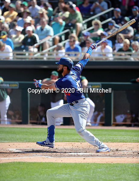 Edwin Rios - Los Angeles Dodgers 2020 spring training (Bill Mitchell)