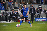 SAN JOSE, CA - MAY 1: Carlos Fierro #7 of the San Jose Earthquakes during a game between D.C. United and San Jose Earthquakes at PayPal Park on May 1, 2021 in San Jose, California.