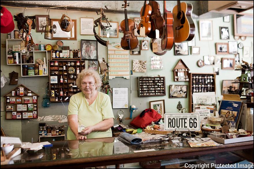 Missouri-Route 66<br /> Portrait<br /> Halltown