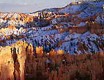 Bryce Canyon National Park, UT<br /> Spring snow in Bryce Canyon - from Sunset Point