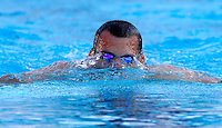 Trofeo Settecolli di nuoto al Foro Italico, Roma, 15 giugno 2013.<br /> Laszlo Cseh, of Hungaria, reacts after winning in the men's 200 meters Medley at the Sevenhills swimming trophy in Rome, 15 June 2013.<br /> UPDATE IMAGES PRESS/Isabella Bonotto
