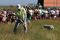 18th July 2021; Royal St Georges Golf Club, Sandwich, Kent, England; The Open Championship Golf, Day Four; Dylan Frittelli (RSA) plays from deep rough at the back of the 11th hole