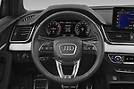 Car pictures of steering wheel view of a 2021 Audi Q5 Edition-One 5 Door SUV Steering Wheel