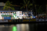 pre race activity, people sleeping on the seawall, 2007 Ironman Triathlon World Championship,, Kailua Kona, Big Island, Hawaii, USA, Pacific Ocean