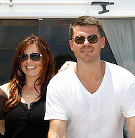 Melissa Archer & Jeff Branson - Actors from Y&R, Days and General Hospital donated their time to Southwest Florida 16th Annual SOAPFEST and during the weekend took a break to chill on one of the boats to see dolphins and to swim off Marco Island, Florida on May 23, 2015 - a celebrity weekend May 22 thru May 25, 2015 benefitting the Arts for Kids and children with special needs and ITC - Island Theatre Co.  (Photos by Sue Coflin/Max Photos)