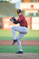 Idaho Falls Chukars relief pitcher Christian Cosby (0) during a Pioneer League game against the Orem Owlz at The Home of the OWLZ on August 13, 2019 in Orem, Utah. Orem defeated Idaho Falls 3-1. (Zachary Lucy/Four Seam Images)