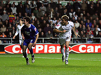Pictured: Gorka Pintado of Swansea City in action <br /> Re: Coca Cola Championship, Swansea City Football Club v Birmingham City at the Liberty Stadium, Swansea, south Wales Friday 21 November 2008.<br /> Picture by D Legakis Photography (Athena Picture Agency), Swansea, 07815441513