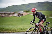 Diego Ulissi (ITA/UAE-Emirates) up the Colle Passerino (3km from the finish)<br /> <br /> 104th Giro d'Italia 2021 (2.UWT)<br /> Stage 4 from Piacenza to Sestola (187km)<br /> <br /> ©kramon