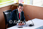 Councillor Jimmy Moloney from Listowel has been elected Cathaoirleach of Kerry County Council at a historic meeting of the local authority which was held at Austin Stack Park in Tralee.