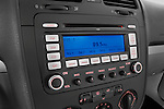Stereo audio system close up detail view of a 2009 Volkswagen Jetta TDI