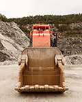 October 8, 2019. Cary, North Carolina.<br /> <br /> Heavy equipment at the Wake Stone Corp. Triangle Quarry. Wake Stone has a contract in place with the RDU Airport Authority to expand the quarry onto their land, but it is being challenged in court by multiple parties trying to halt the expansion in hopes of using the land for outdoor recreation.<br /> <br /> The proposed expansion of a Wake Stone Corp. granite aggregate quarry onto land owned by the Raleigh-Durham International Airport, which also borders Umstead State Park, has ignited a debate about what to do with unused public land and brought to the surface the conflict between recreation and the residential growth of the area. <br /> <br /> Jeremy M. Lange for The Wall Street Journal