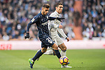Cristiano Ronaldo (r) of Real Madrid battles for the ball with Luis Munoz of Malaga CF during their La Liga 2016-17 match between Real Madrid and Malaga CF at the Estadio Santiago Bernabéu on 21 January 2017 in Madrid, Spain. Photo by Diego Gonzalez Souto / Power Sport Images