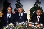 GIOVANNI MALAGO' CON RAFFAELE RANUCCI E FRANCESCO GAETANO CALTAGIRONE<br /> CENA ELETTORALE VELTRONI SINDACO  ROMA  2001