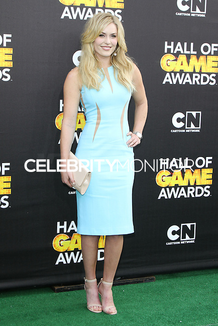 SANTA MONICA, CA, USA - FEBRUARY 15: Lindsey Vonn at the 4th Annual Cartoon Network Hall Of Game Awards held at Barker Hangar on February 15, 2014 in Santa Monica, California, United States. (Photo by David Acosta/Celebrity Monitor)