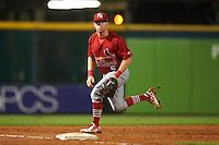 Palm Beach Cardinals third baseman Andrew Sohn (5) during a game against the Bradenton Marauders on August 9, 2016 at McKechnie Field in Bradenton, Florida.  Bradenton defeated Palm Beach 8-7.  (Mike Janes/Four Seam Images)