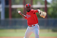 Philadelphia Phillies pitcher Enyel De Los Santos (51) during a Minor League Spring Training game against the Toronto Blue Jays on March 29, 2019 at the Carpenter Complex in Clearwater, Florida.  (Mike Janes/Four Seam Images)