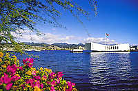 Arizona memorial, Pearl Harbor, Island of Oahu
