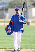 Xavier Nady. Chicago Cubs spring training workouts at Fitch Park, Mesa, AZ - 03/01/2010.Photo by:  Bill Mitchell/Four Seam Images.