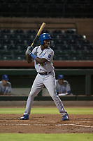 AZL Royals designated hitter David Hollie (11) at bat during an Arizona League game against the AZL Giants Black at Scottsdale Stadium on August 7, 2018 in Scottsdale, Arizona. The AZL Giants Black defeated the AZL Royals by a score of 2-1. (Zachary Lucy/Four Seam Images)