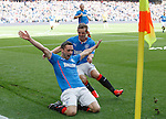 Nicky Clark celebrates his early goal for Rangers against East Fife