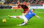 Aberdeen v St Johnstone…08.12.18…   Pittodrie    SPFL<br />Chris Kane is fouled by Andy Considine<br />Picture by Graeme Hart. <br />Copyright Perthshire Picture Agency<br />Tel: 01738 623350  Mobile: 07990 594431