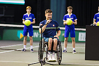 Rotterdam, The Netherlands,7 march  2021, ABNAMRO World Tennis Tournament, Ahoy,  <br /> Wheelchair final: Gordon Reid (GBR). Photo: www.tennisimages.com/