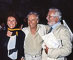 """ORNELLA VANONI CON  GIORGIO ALBERTAZZI E LUCIO ARDENZI - PRIMA """"MEMORIE DI ADRIANO"""" VILLA ADRIANA 1989"""