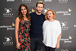Hiba Abouk, Pablo Rivero and Carmen Machi during press conference of presentation of short film of Gas Natural Fenosa during Sitges Film Festival in Barcelona, Spain October 05, 2017. (ALTERPHOTOS/Borja B.Hojas)