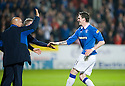 :: RANGERS' KYLE LAFFERTY CELEBRATES AFTER HE SCORES THE THIRD :: .19/04/2011   Copyright  Pic : James Stewart.sct_jsp022_dundee_utd_v_rangers .James Stewart Photography 19 Carronlea Drive, Falkirk. FK2 8DN      Vat Reg No. 607 6932 25.Telephone      : +44 (0)1324 570291 .Mobile              : +44 (0)7721 416997.E-mail  :  jim@jspa.co.uk.If you require further information then contact Jim Stewart on any of the numbers above.........