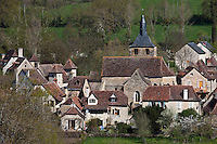 Europe/Europe/France/Midi-Pyrénées/46/Lot/Rignac: le village sur le Causse de Gramat