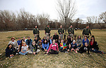 The Carson City Sheriff's Office K-9 team demonstrated patrol skills for a group of GATE students from Carson Middle and Eagle Valley Middle schools, on Wednesday, March 5, 2014 at Fuji Park.<br /> Photo by Cathleen Allison/Nevada Photo Source