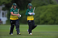 Central's Natalie Dodd (right) and Jess Watkin during the women's Hallyburton Johnstone Shield cricket match between the Wellington Blaze and Central Hinds at Karori Park in Wellington, New Zealand on Sunday, 1 December 2019. Photo: Dave Lintott / lintottphoto.co.nz