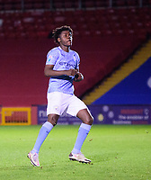Manchester City U21's Romeo Lavia<br /> <br /> Photographer Andrew Vaughan/CameraSport<br /> <br /> EFL Papa John's Trophy - Northern Section - Group E - Lincoln City v Manchester City U21 - Tuesday 17th November 2020 - LNER Stadium - Lincoln<br />  <br /> World Copyright © 2020 CameraSport. All rights reserved. 43 Linden Ave. Countesthorpe. Leicester. England. LE8 5PG - Tel: +44 (0) 116 277 4147 - admin@camerasport.com - www.camerasport.com