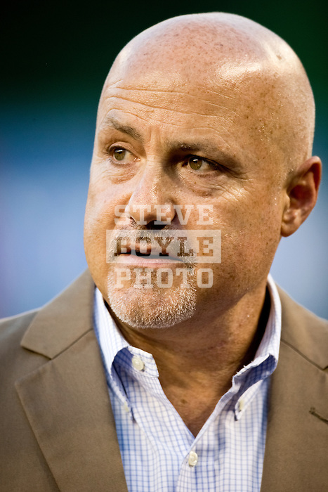 Washington Nationals general manager Mike Rizzo before a game at Nationals Park in Washington, DC on September 7, 2012.