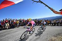3rd September 2020; Le Teil to Mont Aigoual , France. Tour de France cycling tour, stage 6; Ef 2020, Astana Powless, Neilson Lutsenko, Alexey Mont Aigoual
