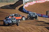 Dec. 9, 2011; Chandler, AZ, USA;  LOORRS pro 4 unlimited driver Myan Spaccarelli (12) gets sideways during qualifying for round 15 at Firebird International Raceway. Mandatory Credit: Mark J. Rebilas-