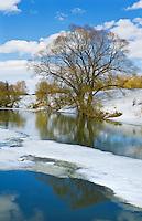 Early spring. Protva river. Kaluga region, Russia