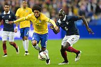 Mamadou Sakho (Fra) vs Luiz Adriano (Brasile) <br /> Parigi 26-03-2015 Stade De France Calcio Football 2014/2015 Amichevole Francia Brasile <br /> Foto Panoramic / Insidefoto