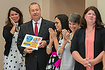 John Threet reacts during a Children at Risk awards presentation to area schools at Pilgrim Academy, June 6, 2016.
