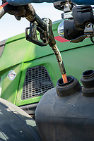 Fillinjg tractor with diesel